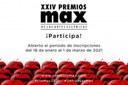 Ya está abierta la inscripción a los XXIV Premios Max de las Artes Escénicas