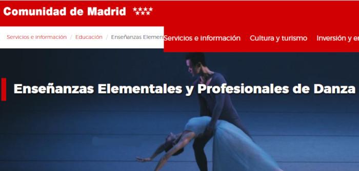 Admisión a los Conservatorios Profesionales de Madrid 2020/2021