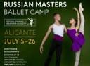 Audiciones para el Russian Masters Ballet Camp 2020
