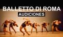 Balletto di Roma convoca audiciones para hombres