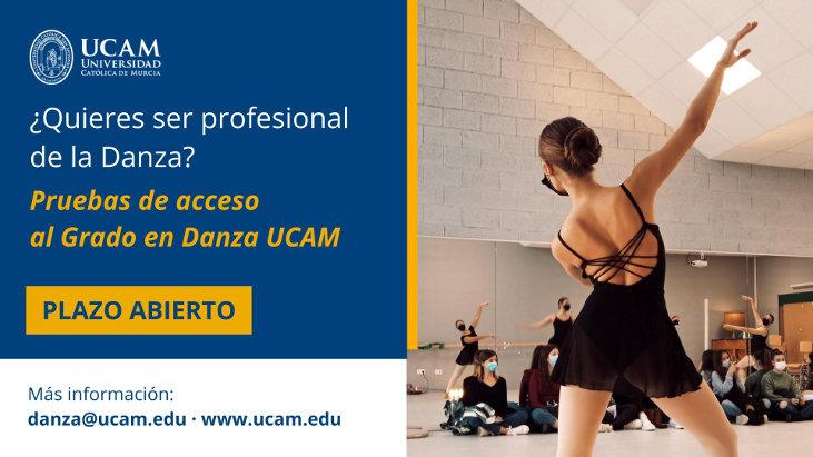 Ampliado el plazo para las pruebas de acceso al Grado en Danza UCAM